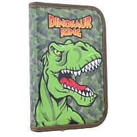 Пенал - книжка школьный твердый одинарный с клапаном Динозавр Dinosaur, без наполнения, Smart 531718