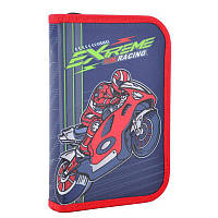 Пенал - книжкашкольный твердый одинарный с клапаном МотоциклExtreme racing, без наполнения, Smart531738