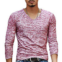 Мужской легкий пуловер в стиле casual  «Season Style»(Бордовый)