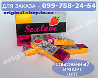 "Жвачка ""Sex Love"" Оригинал усиленный ""Sexlove+"" (1 упаковка - 5 пластин) 100% ORIGINAL"