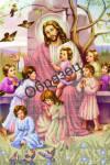 ИЧ-21. Схема для вышивки бисером Иисус и дети.