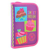 Пенал - книжкашкольный твердый одинарный с клапаном Сладкие мечтыSweet dream, без наполнения, Smart531691