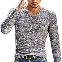 Мужской легкий пуловер в стиле casual  «Season Style»(Чёрный)