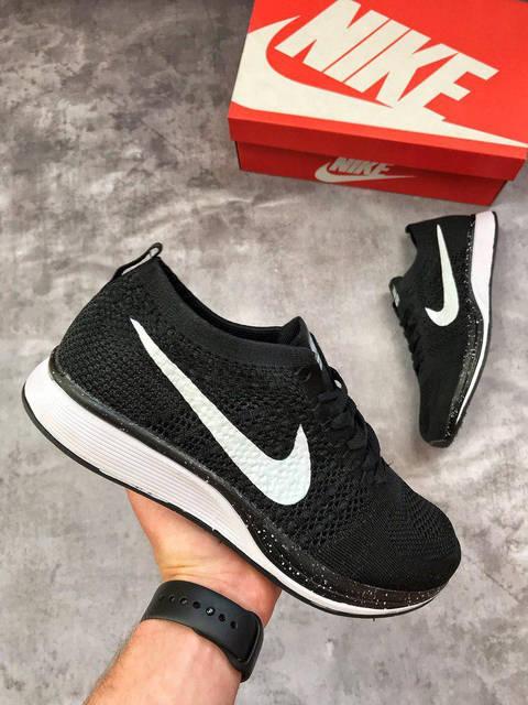 ÐÑжÑкие кÑоÑÑовки Nike Flyknit Racer Black, ÑоÑо 3