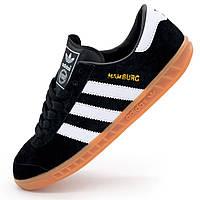 031238a572debe Мужские кроссовки Adidas Hamburg - Натуральная замша - Топ качество! р.(38)