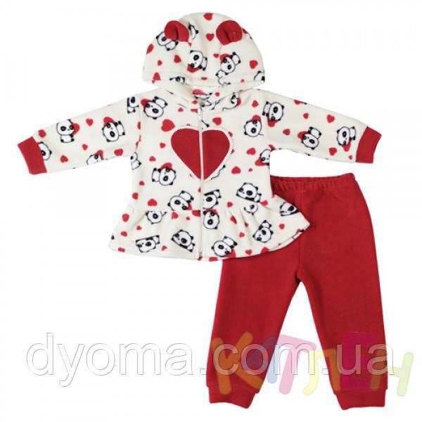 """Детский флисовый костюм """"Пандочка"""" для девочек"""