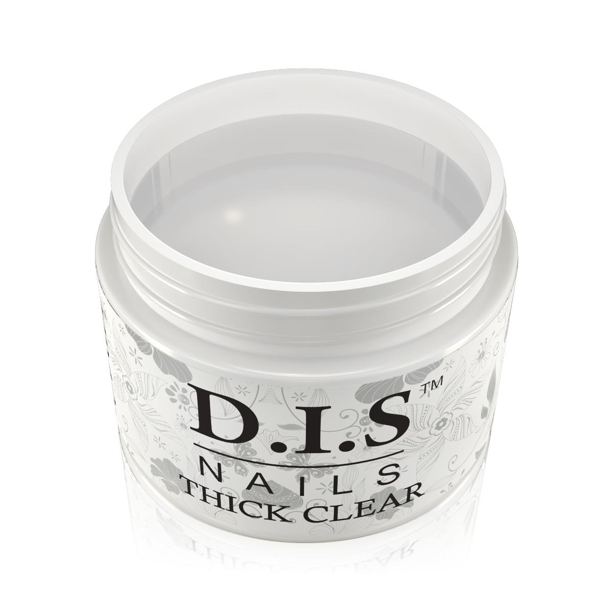 Однофазный гель D.I.S Nails Thick Clear Gel (Кристально-прозрачный) 60 гр.