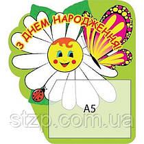 Стенд Поздравляем Ромашка с бабочкой