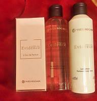 набор Эвиденс ив роше парфюм вода 50мл+гель для душа +парфюм молочко для тела Comme une Evidence