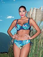 Большой женский купальник с высокой талией Miss Marea 16726 46 Синий  MissMarea 16726 cdffc90eae1ab