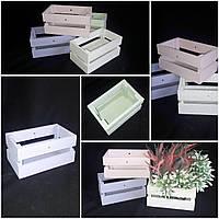 Декоративный ящик из дерева, 10х20х12 см., 100/80 (цена за 1 шт. + 20 гр.)
