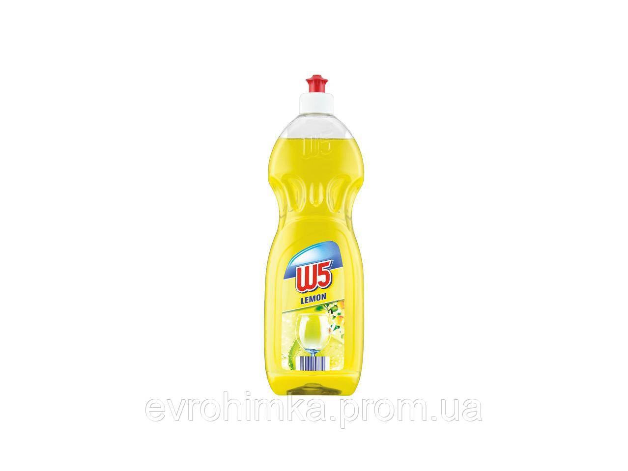 Средство для мытья посуды W5 лимон 1000 мл