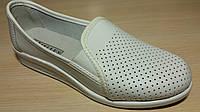 Туфли женские белые кожаные рабочая мед обувь оптом, фото 1