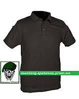 Тактическая футболка-поло черная(black)