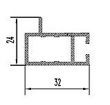Торговий алюмінієвий профіль для вітрин і прилавків 2575, фото 4