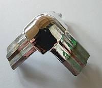 Стик потрійний (хром) під 90 градусів для з'єднання торгових профілів, фото 1