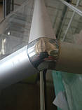 Стик потрійний (хром) під 135 градусів для з'єднання торгових профілів, фото 3
