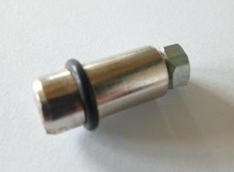 Полкотримач пітті металеві в хромі  для торгових вітрин і прилавків з каркасу алюмінієвого профілю