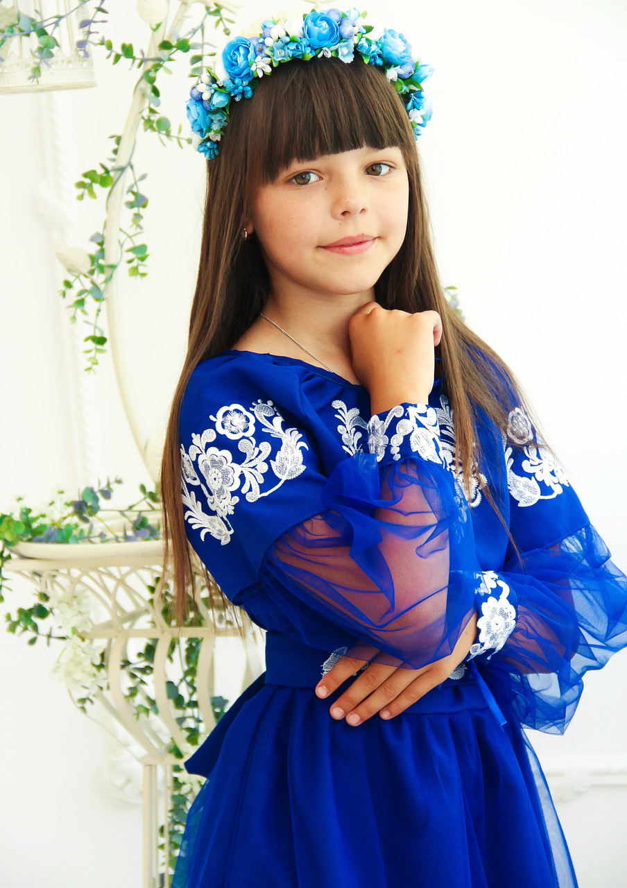 95f9f0462e5336 Плаття вишите Казкове (6-12 років) - Студія дитячої вишивки
