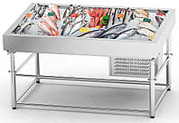 """Холодильная витрина """"рыба на льду""""  SDIC-1.7/1.0 (с охлаждением)"""