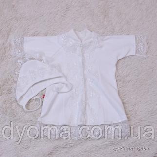 Крестильная рубашка  Анна (айвори), фото 2