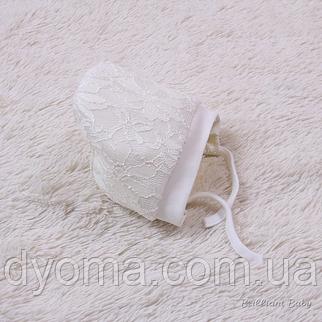 Нарядная теплая шапочка Кружево, фото 2