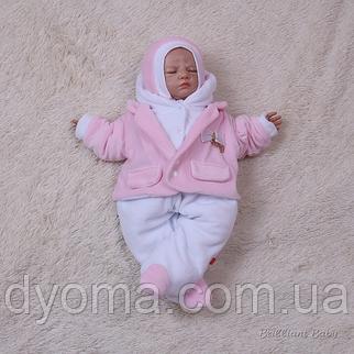 Велюровый человечек для новорожденных Little beauty (розовый), фото 2