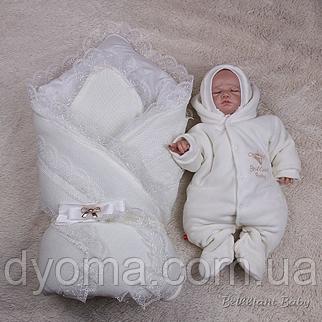 Набор на выписку для новорожденных Шарлота+Brilliant Baby (айвори), фото 2