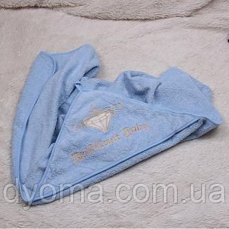 Детское полотенце с уголком Brilliant (голубое), фото 2