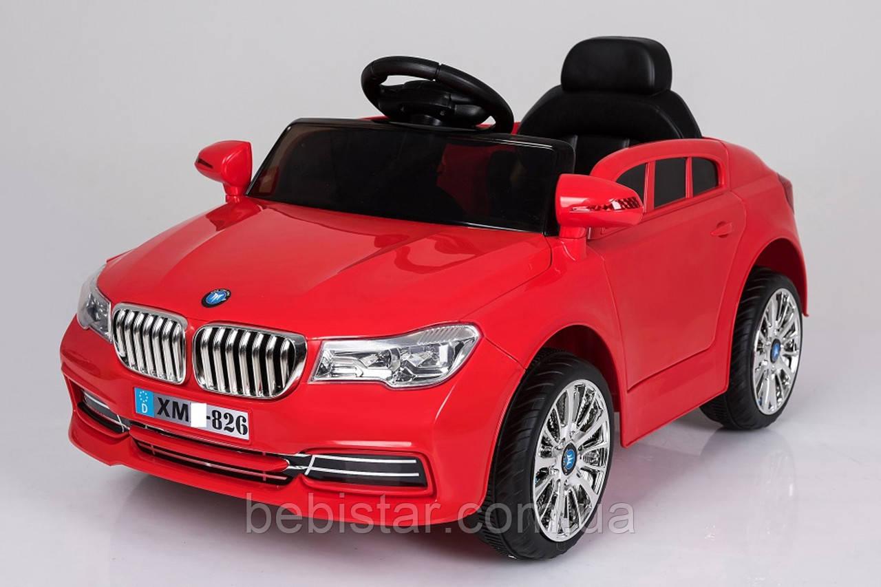 Электромобиль спорткар T-7612 RED для деток 3-8 лет с пультом с MP3