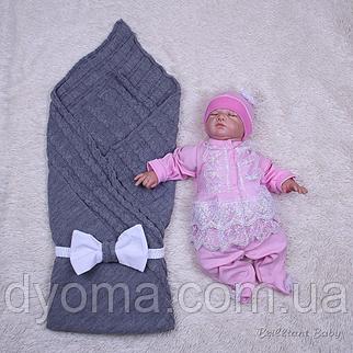 Летний набор Глория+Мальвина (серый+розовый), фото 2