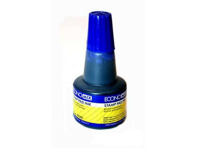 Краска штемпельная Economix, 30 мл. синяя