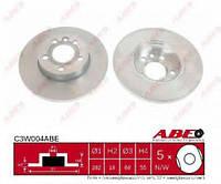 Тормозной диск передний не вентилируемый R15 Volkswagen T4 | 96- | 260x16 | ABE