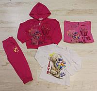Трикотажный костюм 3 в 1 для девочек оптом, Crossfire, 6/36 мес.,  № CF-1126, фото 1