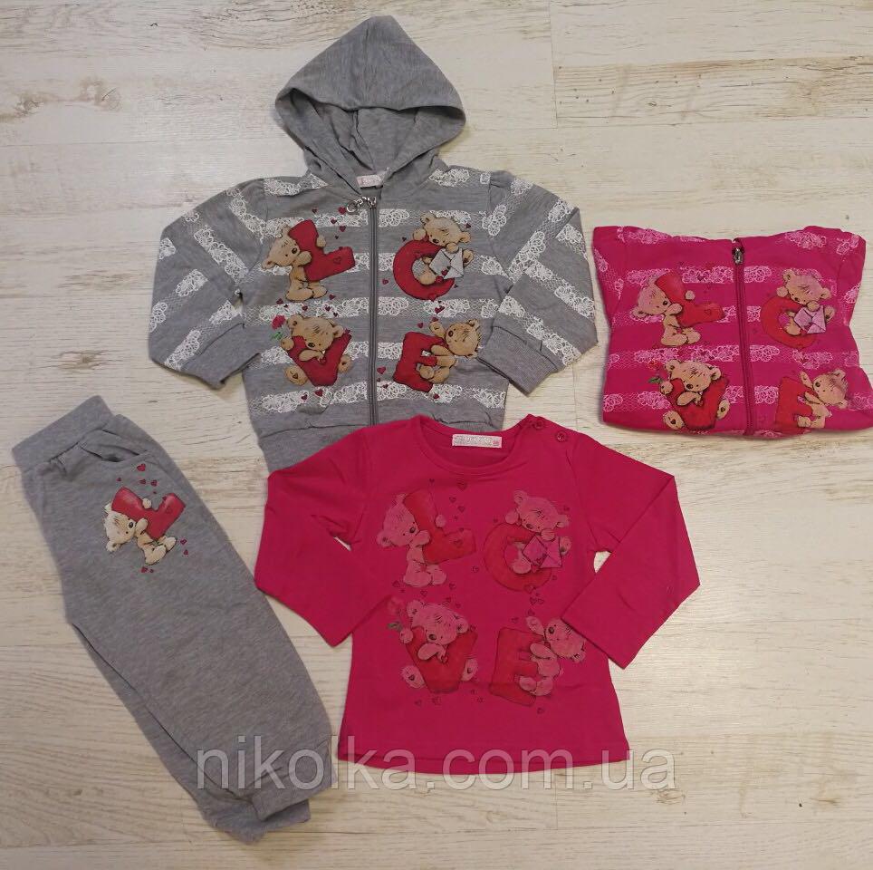 Трикотажный костюм-тройка для девочек оптом, Crossfire, 6-36 мес., арт. CF-1128