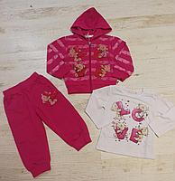 Трикотажный костюм-тройка для девочек оптом, Crossfire, 6-36 мес., арт. CF-1128, фото 3