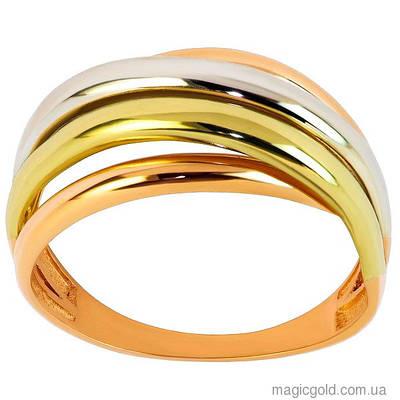 Золотое кольцо из трех видов золота Триода