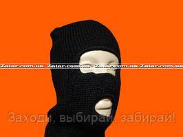 Балаклава черная крупной вязки (Польша)
