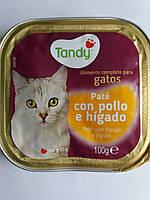Корм для кошекTandy паштет c курицей и печенью 100г.Испания