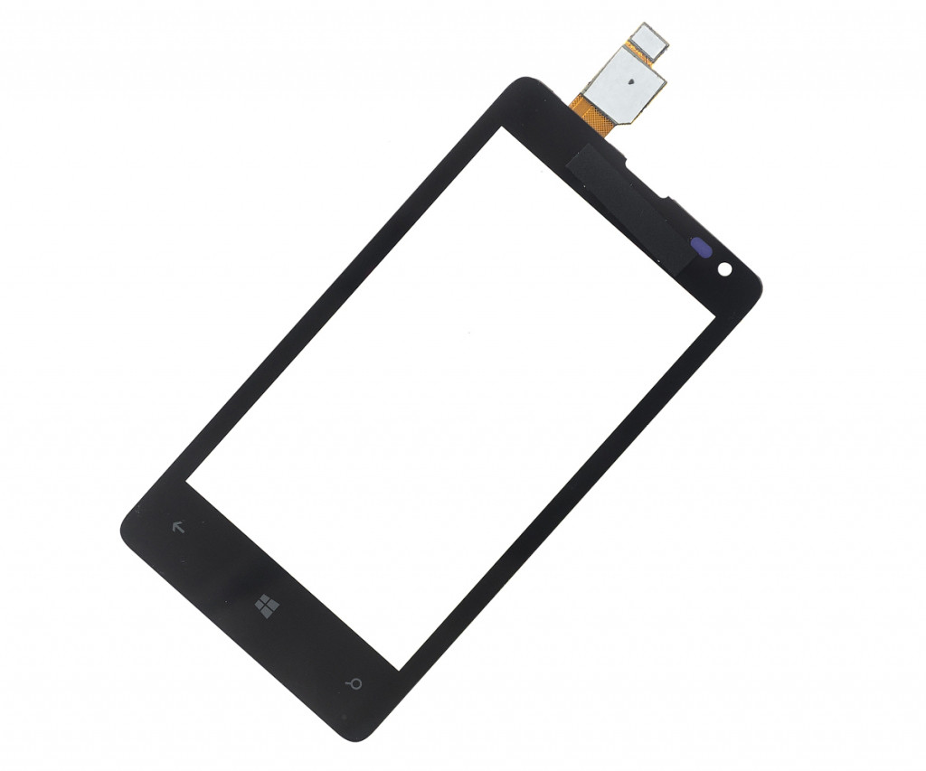 Тачскрин для Microsoft Lumia 435 Dual Sim/532 (RM-1069), черный Оригинал