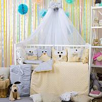 Комплект детского постельного в кроватку Зверюшки ТМ Bepino
