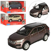 Машинка Welly HYUNDAI SANTAFE 43677CW металева, інерційна, 1:34-39, резинові колеса