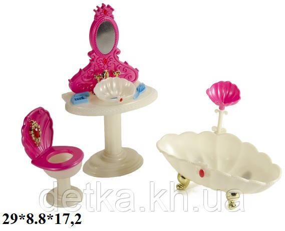 Меблі лялькова ванна кімната Gloria 1213