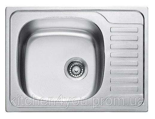 Прямоугольная кухонная мойка Fabiano 58х48 нержавеющая сталь, микродекор