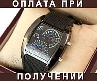 "Часы LED ""Спидометр"" -- СЕРЕБРО, ЧЕРНЫЙ _(65л)"