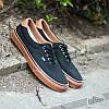 """Кеды текстильные мужские Vans Era 59 Black Gum Brown """" Черные с коричневой подошвой"""" р. 8.5-11 (41-44)"""