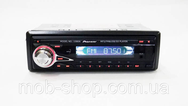 Автомагнитола пионер Pioneer 1080A съемная панель USB+SD+AUX