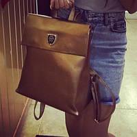 Стильные кожаные рюкзачки , кожаный рюкзак филипп плейн Трансформер ss258472 золотой кожаный рюкзак
