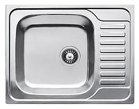 Прямоугольная кухонная мойка Fabiano 65х50 нержавеющая сталь, микродекор, фото 1
