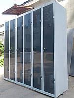 Шкафчики для хранения спецодежды бу. Металлические шкафчики для одежды б/у.